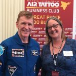 Rachel Sestini and Tim Peake